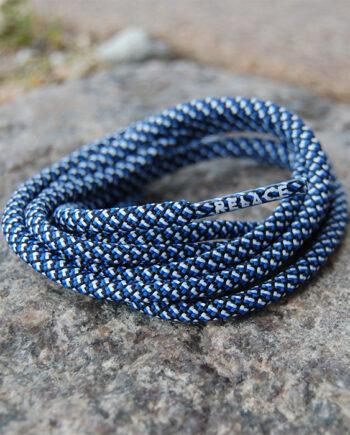 blå relace 3farvede snørebånd